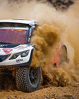 31st December 2020, Jeddah, Saudi Arabian. The vehicle and river shakedown for the 2021 Dakar Rally in Jeddah;   314 Despres Cyril fra, Horn Mike swi, Peugeot, PH Abu Dhabi Racing, Auto, action during the shakedown of the Dakar 2021 in Jeddah