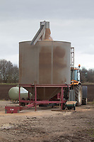 5-3-2021 Drying grain with a mobile grain dryer<br />  ©Tim Scrivener Photographer 07850 303986<br />      ....Covering Agriculture In The UK....