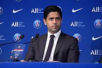 Nasser Al Khelaifi ( president PSG ) - <br /> 11/08/2021<br /> Lionel Messi al Paris Saint Germain PSG <br /> Calcio Ligue 1 2021/2022<br /> Photo Federico Pestellini/Panoramic/insidefoto <br /> ITALY ONLY
