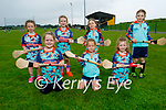 Enjoying the Abbeydorney GAA Cúl Camps on Monday. Kneeling l to r:  Leah O'Connell, Ella Walker and Hannah Behan. Back l to r: Roisin O'Connell, Anna O'Sullivan, Tara O'Connell and Emily O'Leary.
