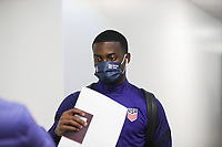 WIENER NEUSTADT, AUSTRIA - NOVEMBER 16: Timothy Weah #23 of the United States before a game between Panama and USMNT at Stadion Wiener Neustadt on November 16, 2020 in Wiener Neustadt, Austria.