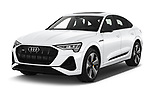 2020 Audi e-tron-Sportback S-Line 5 Door SUV Angular Front automotive stock photos of front three quarter view