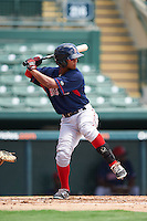 GCL Red Sox center fielder Lorenzo Cedrola (12) at bat during a game against the GCL Orioles on August 16, 2016 at the Ed Smith Stadium in Sarasota, Florida.  GCL Red Sox defeated GCL Orioles 2-0.  (Mike Janes/Four Seam Images)