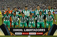 SANTIAGO DE CHILE - CHILE - 27 - 02 - 2018: Los Jugadores de Atletico Nacional (COL) posan para una foto durante partido de la Fase de Grupos, grupo 2, fecha 1 entre Colo Colo (CHL) y Atletico Nacional (COL), por la Copa Conmebol Libertadores 2018 en el estadio Monumental David Arellano, de la ciudad de Santiago de Chile. / The players Atletico Nacional of Colombia pose for a photo during match of the Group Stage, group 2, 1st date between Colo Colo (CHL) and Atletico Nacional (COL) for Copa Conmebol Libertadores 2018 at the David Arellano Monumental Stadium, in the city of Santiago de Chile. Photos: VizzorImage / Marcelo Hernandez / Cont. / Photosport