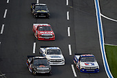 CONCORD, NORTH CAROLINA - MAY 26: Chase Elliott, driver of the #24 iRacing Chevrolet, leads a pack of trucks during the NASCAR Gander Outdoors Trucks Series North Carolina Education Lottery 200 at Charlotte Motor Speedway on May 26, 2020 in Concord, North Carolina. (Photo by Jared C. Tilton/Getty Images)