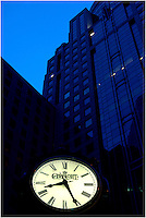 The iconic Charlotte clock in downtown/uptown Charlotte NC. Please visit www.PatrickSchneiderPhoto.com for Charlotte's most up-to-date and extensive collection of Charlotte NC photos.