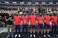 LAS VEGAS, NV - AUGUST 1: United States head coach Gregg Berhalter and members of his staff before a game between Mexico and USMNT at Allegiant Stadium on August 1, 2021 in Las Vegas, Nevada.