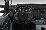 Car pictures of steering wheel view of a 2015 Ford F-350 Super Duty XL 4x4 SuperCab 158-In DRW 2 Door pickup Steering Wheel