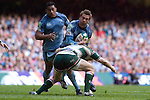 Cardiff Blues v Leicester Tigers - Heineken Cup Semi-Final at the Millennium Stadium in Cardiff..Cardiff's Nicky Walker finds his path blocked..