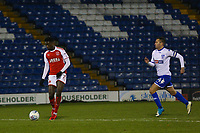 GOLA - Fleetwood Town's Jordy Hiwula (7) celebrates scoring his sides third goal during the The Checkatrade Trophy match between Bury and Fleetwood Town at Gigg Lane, Bury, England on 9 January 2018. Photo by Juel Miah/PRiME Media Images.