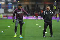 Martin Olsson of Swansea City during the pre-match warm-up for the Sky Bet Championship match between Brentford and Swansea City at Griffin Park, Brentford, England, UK. Saturday 08 December 2018