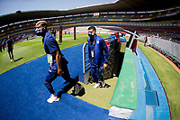 GUADALAJARA, MEXICO - MARCH 18: Julian Araujo #2 of the United States enters the field before a game between Costa Rica and USMNT U-23 at Estadio Jalisco on March 18, 2021 in Guadalajara, Mexico.
