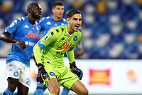 Alex Meret of SSC Napoli reacts during the Serie A football match between SSC Napoli and Genoa CFC at San Paolo stadium in Napoli (Italy), September 27th, 2020. Photo Cesare Purini / Insidefoto