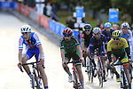 The 3rd chase group including Ben Healy of Ireland arrive into Harrogate for the first time during the Men U23 Road Race of the UCI World Championships 2019 running 186.9km from Doncaster to Harrogate, England. 27th September 2019.<br /> Picture: Eoin Clarke | Cyclefile<br /> <br /> All photos usage must carry mandatory copyright credit (© Cyclefile | Eoin Clarke)