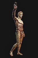 """Bronze statue of Perseus or Paris, known as """"The Antikythera Youth"""" (340-330 B.C.) in National Museum, Greece"""