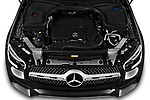 Car Stock 2020 Mercedes Benz GLC-Coupe GLC300 5 Door SUV Engine  high angle detail view