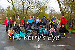 Volunteers who cleaned up around the Lough Leane lakeshore at Ross Castle on Friday morning