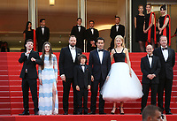 YORGOS LANTHIMOS NICOLE KIDMAN BARRY KEOGHAN RAFFEY CASSIDY COLIN FARRELL SUNNY SULJIC ANDREW LOWE 'The Killing Of A Sacred Deer' Red Carpet Arrivals - The 70th Annual Cannes Film Festival at Palais des Festivals on May 22, 2017 in Cannes, France. # 70EME FESTIVAL DE CANNES - RED CARPET 'MISE A MORT DU CERF SACRE'