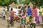 \Children roam the market of Rumbek town in South Sudan.