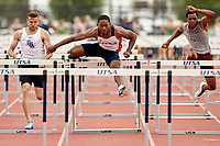 SAN ANTONIO, TX - MARCH 24, 2018: The University of Texas at San Antonio Roadrunners compete in the 2018 Roadrunner Invitational track & Field Meet at the Park West Athletics Complex. (Photo by Jeff Huehn)