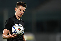 Referee Daniel Siebert of Germany looks at the ball <br /> during the friendly football match between Italy and Moldova at Artemio Franchi Stadium in Firenze (Italy), October, 7th 2020. Photo Andrea Staccioli/ Insidefoto