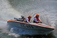 Rob Frey, SK-484 (racing flatbottom ski boat)