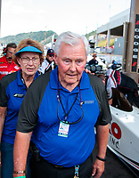 Jul 21, 2019; Morrison, CO, USA; Track owner John Bandimere during the NHRA Mile High Nationals at Bandimere Speedway. Mandatory Credit: Mark J. Rebilas-USA TODAY Sports