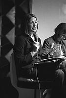 """La giornalista Naomi Klein, in occasione dell'uscita del suo nuovo libro """"Shock Economy"""",  incontra a Milano i ragazzi del centro sociale Cantiere --- The Journalist Naomi Klein presents in Milan her new book """"Shock Economy"""" in a meeting at the Cantiere social centre"""