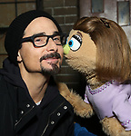"""Kevin Richardson from the Backstreet Boys backstage with the cast and crew of  """"Avenue Q""""  at the New World Stages on January 27, 2019 in New York City."""