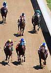 MAY 01, 2015: Molly Morgan, ridden by Corey J. Lanerie, crosses the finish line during the 30th running of La Troienne at Churchill Downs in Louisville, Kentucky. Ting Shen/ESW/CSM