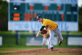 Siena Saints starting pitcher Tommy Miller (42) during a game against the Pittsburgh Panthers on February 24, 2017 at Historic Dodgertown in Vero Beach, Florida.  Pittsburgh defeated Siena 8-2.  (Mike Janes/Four Seam Images)