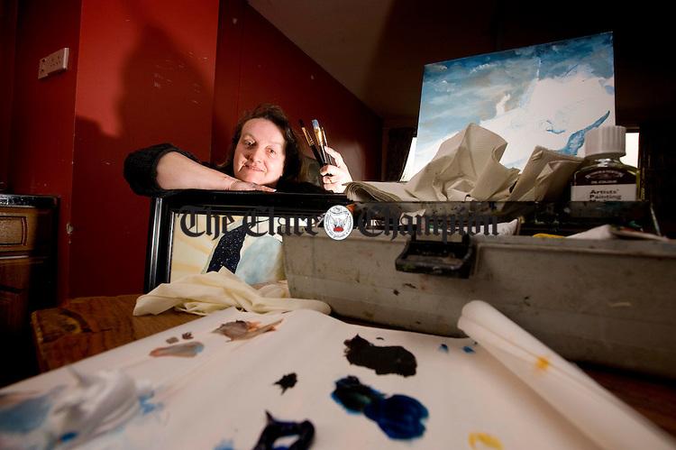 Artist Madeleine Shinnick in Kilrush Community Centre.Pic Arthur Ellis.