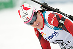 MARTELL-VAL MARTELLO, ITALY - FEBRUARY 02: MOERKVE Jori (NOR) after the Women 7.5 km Sprint at the IBU Cup Biathlon 6 on February 02, 2013 in Martell-Val Martello, Italy. (Photo by Dirk Markgraf)
