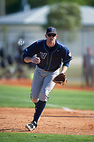 Villanova Wildcats first baseman Max Beermann (44) during a game against the Dartmouth Big Green on February 27, 2016 at South Charlotte Regional Park in Punta Gorda, Florida.  Villanova defeated Dartmouth 14-1.  (Mike Janes/Four Seam Images)