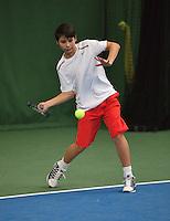 20131201,Netherlands, Almere,  National Tennis Center, Tennis, Winter Youth Circuit, Sidane Pontjodikromo<br /> Photo: Henk Koster