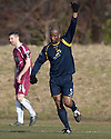 Albion's Marvin Andrews celebrates after he scores their goal.