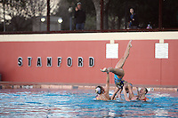 STANFORD, CA - FEBRUARY 7:  (Not in order) Erin Bell, Alex Bollaidlaw, Debbie Chen, Allison Coates, Taylor Durand, Morgan Fuller, Maria Koroleva, Gayle Lee, Michelle Moore, Olivia Morgan, Corinne Smith, and Kimiko Koko Urata of the Stanford Cardinal during Stanford's 88-78 win against the Incarnate Word Cardinals on February 7, 2009 at Avery Aquatic Center in Stanford, California.