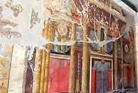 Affreschi nella villa romana di Poppea ad Oplonti, nei pressi di Napoli.<br /> Frescoes in Poppaea's roman villa at Oplontis, near Naples.<br /> UPDATE IMAGES PRESS/Riccardo De Luca