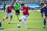 SAN JOSE, CA - APRIL 24: Ricardo Pepi #16 of FC Dallas controls the ball during a game between FC Dallas and San Jose Earthquakes at PayPal Park on April 24, 2021 in San Jose, California.