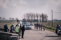 breakaway group in the infamous windy 'Moeren'<br /> <br /> Driedaagse Brugge-De Panne 2018<br /> Bruges - De Panne (202km)