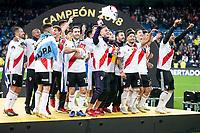 River Plate celebrating the victory during Commebol Final Match between River Plate and Boca Juniors at Santiago Bernabeu Stadium in Madrid, Spain. December 09, 2018. (ALTERPHOTOS/Borja B.Hojas) /NortePhoto.com
