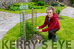 Martina Murphy propigator at Muckross House gardens with the two trees she sat in the sunken garden