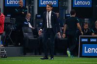 Milan, Italy - september 25 2021 - Serie A match F.C. Internazionale - Atalanta BC San Siro stadium - inzaghi simone trainer f.c. internazionale