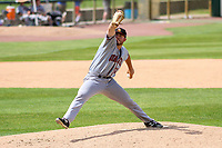 Quad Cities River Bandits pitcher Parker Mushinski (11) delivers a pitch during a Midwest League game against the Kane County Cougars on July 1, 2018 at Northwestern Medicine Field in Geneva, Illinois. Quad Cities defeated Kane County 3-2. (Brad Krause/Four Seam Images)