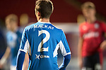 """Dave Mackay Testimonial: St Johnstone v Dundee…06.10.17…  McDiarmid Park… <br />The St Johnstone players all wore shirts with the number 2 and Dave Mackay's shirt in reference to the saints fans song """"We All Dream of a Team of Dave Mackays""""<br />Picture by Graeme Hart. <br />Copyright Perthshire Picture Agency<br />Tel: 01738 623350  Mobile: 07990 594431"""