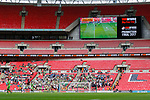 Tranmere Rovers 1 Forest Green Rovers 3, 14/05/2017. Wembley Stadium, Conference play off Final. The scoreboard shows 3-1 to Forest Green during the Vanarama Conference play off Final  between Tranmere Rovers v Forest Green Rovers at the Wembley. Photo by Paul Thompson.