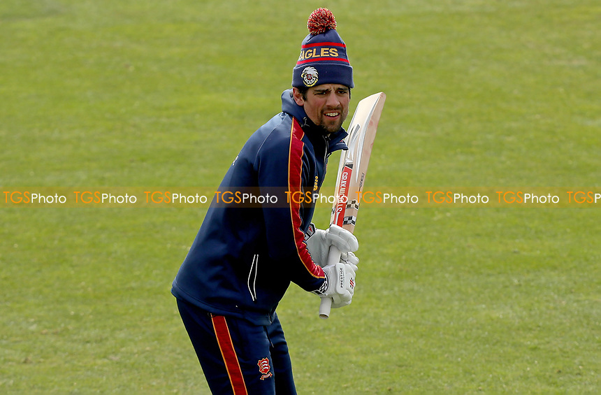 Sir Alastair Cook warms up prior to Essex CCC vs Worcestershire CCC, LV Insurance County Championship Group 1 Cricket at The Cloudfm County Ground on 8th April 2021