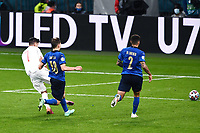 6th July 2021; Wembley Stadium, London, England; Euro 2020 Football Championships semi-final, Italy versus Spain; Shot and goal from scorer for the equalising goal,  Alvaro Morata in the 80th minute