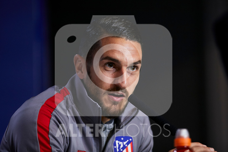 {persons} during the Press Conference before the UEFA Champions League match between Atletico de Madrid and Bayer 04 Leverkusen at Wanda Metropolitano Stadium in Madrid, Spain. October 21, 2019. (ALTERPHOTOS/A. Perez Meca)