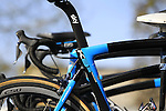 Team Sky Pinarello K8s bike's rear shock absorber at sign on before the start of the 113th edition of the Paris-Roubaix 2015 cycle race held over the cobbled roads of Northern France. 12th April 2015.<br /> Photo: Eoin Clarke www.newsfile.ie
